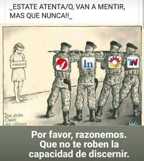 Clarin - La Nacion van a mentir mas que NUNCA que no te roben discernir.jpg