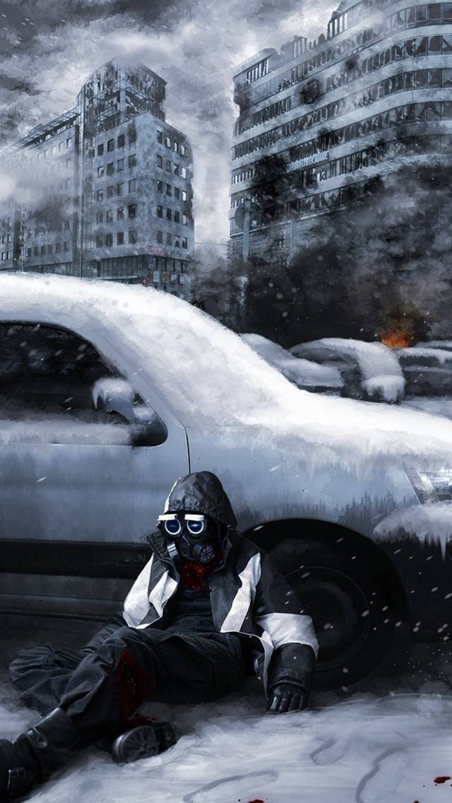 Romantically-Apocalyptic-ruins-city-snow-gas-mask-cars-smoke-fire_iphone_640x1136.jpg